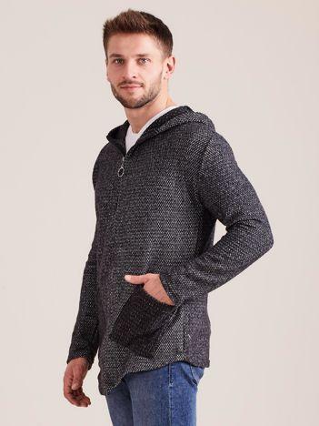 Ciemnoszara bluza dla mężczyzny na suwak