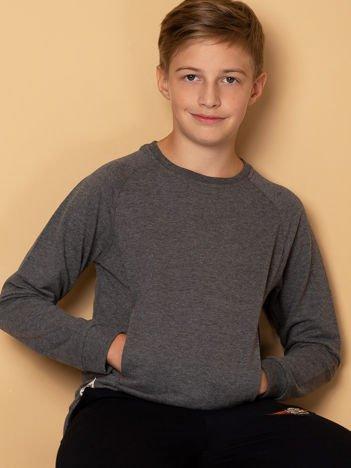 Ciemnoszara bluza dziecięca z kieszonką
