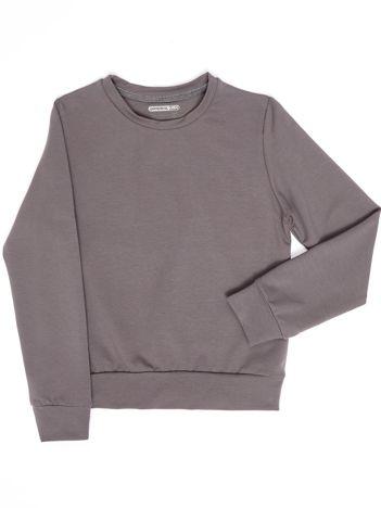 Ciemnoszara bluza młodzieżowa