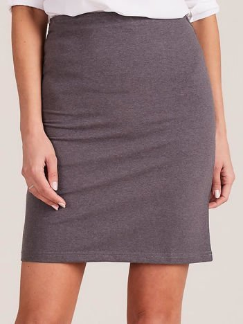 Ciemnoszara dopasowana spódnica