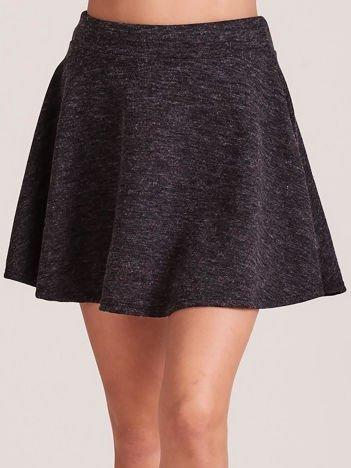 Ciemnoszara rozkloszowana spódnica
