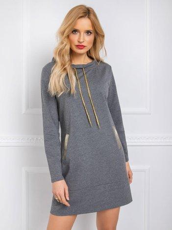 Ciemnoszara sukienka Julianna RUE PARIS
