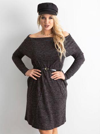 Ciemnoszara sukienka plus size