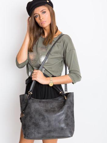 Ciemnoszara torba shopper