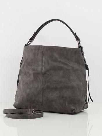 Ciemnoszara torba z ekoskóry