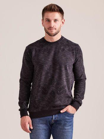 Ciemnoszara wzorzysta bluza męska