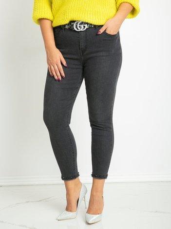 Ciemnoszare jeansy plus size Lucy