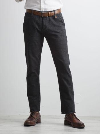 Ciemnoszare materiałowe spodnie męskie