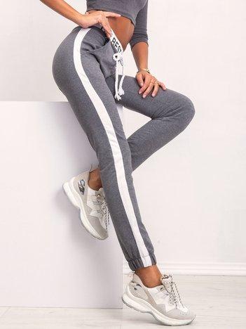 Ciemnoszare spodnie Glammy