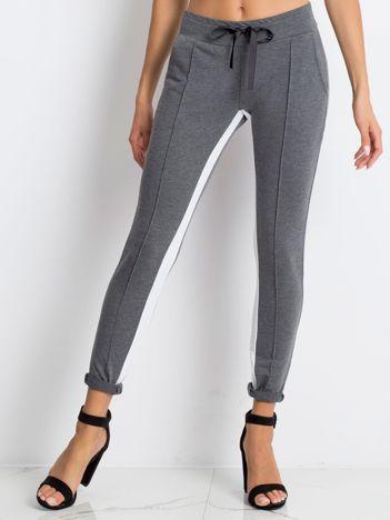Ciemnoszare spodnie dresowe Defined