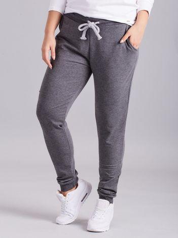 Ciemnoszare spodnie dresowe PLUS SIZE