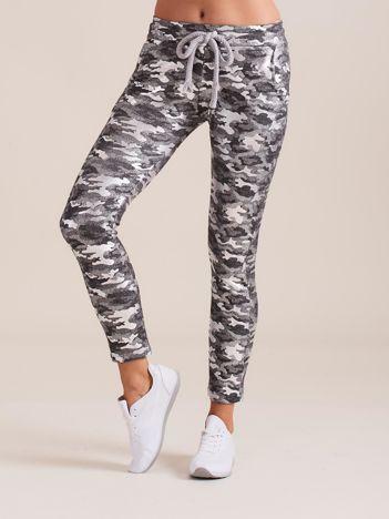 Ciemnoszare spodnie dresowe ze srebrnym printem