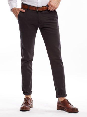Ciemnoszare spodnie męskie chinos