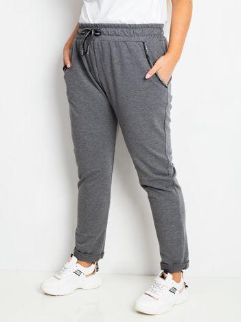 Ciemnoszare spodnie plus size Savage