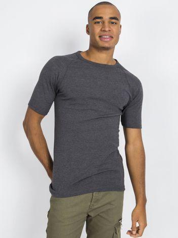 Ciemnoszary męski t-shirt termiczny
