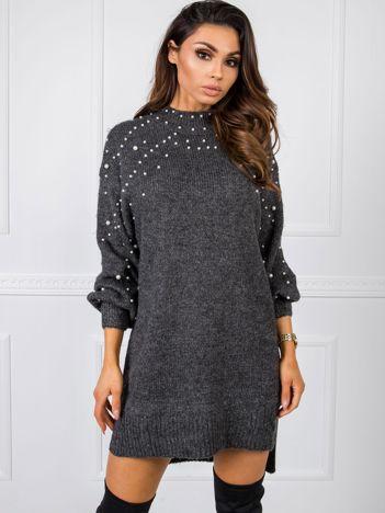 Ciemnoszary sweter Carrington