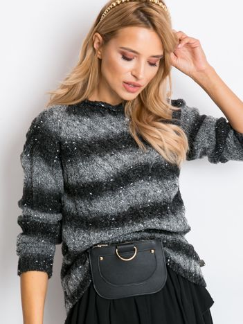 Ciemnoszary sweter Rave