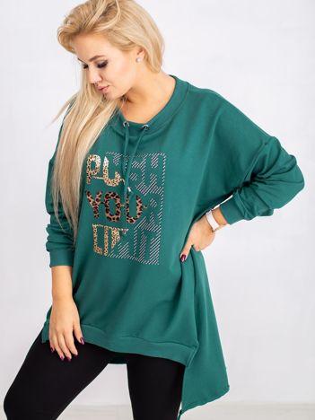 Ciemnozielona bluza plus size Totally