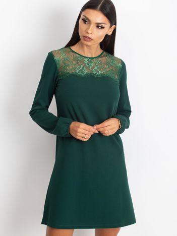 Ciemnozielona sukienka Bombay