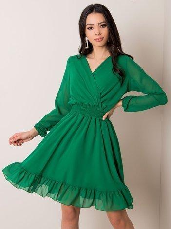 Ciemnozielona sukienka Giovana RUE PARIS