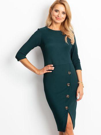 Ciemnozielona sukienka Shape