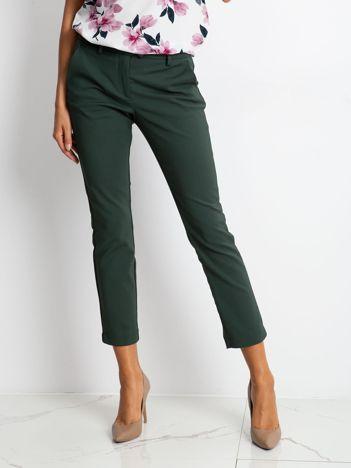 Ciemnozielone spodnie Classy
