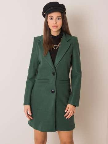 Ciemnozielony płaszcz Dalida