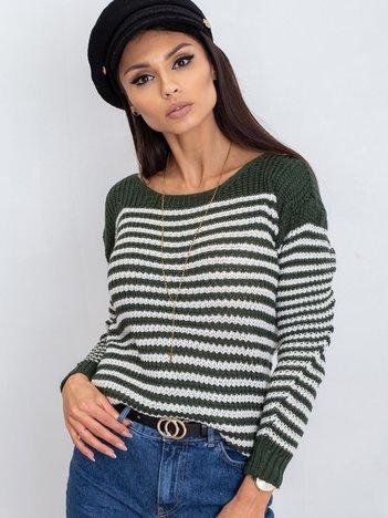 Ciemnozielony sweter Oscar