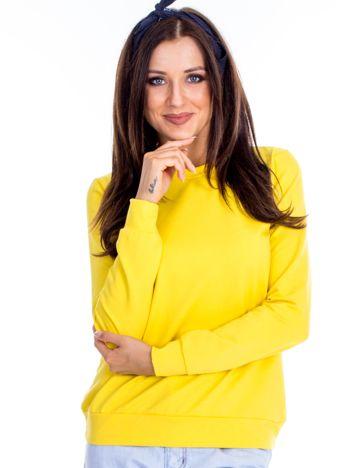 Ciemnożółta bluza damska basic