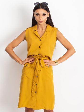 Ciemnożółta sukienka Hive