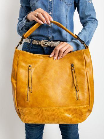 Ciemnożółta torebka damska z eko skóry