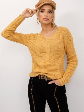 Ciemnożółty sweter Mia
