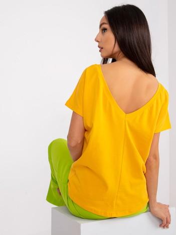 Ciemnożółty t-shirt Fire