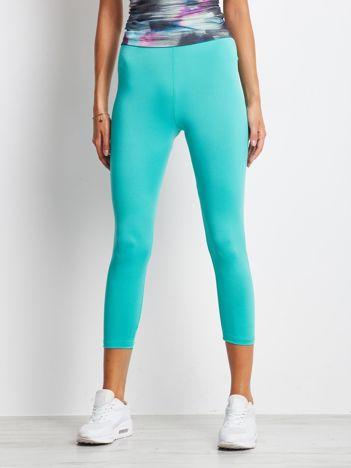 Cienkie legginsy do biegania o długości 7/8 zielone