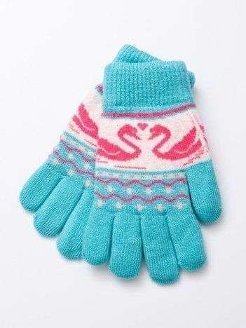 Ciepłe dziecięce rękawiczki z wełnianą wyściółką 16cm (5-9lat)