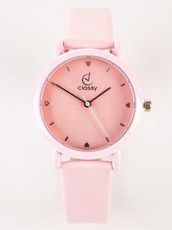 Classy LOVE elegancki różowy zegarek damski