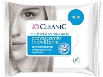 Cleanic Chusteczki do demakijażu Oczyszczenie i Nawilżenie - cera normalna  1op.-10szt