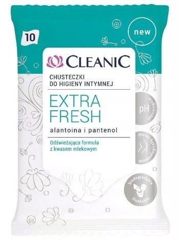Cleanic Chusteczki do higieny intymnej Extra Fresh  1op.- 10szt
