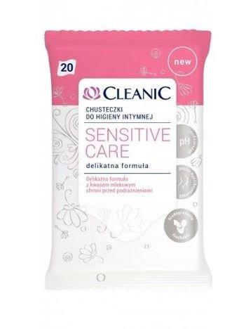 Cleanic Chusteczki do higieny intymnej Sensitive Care  1op.- 20szt
