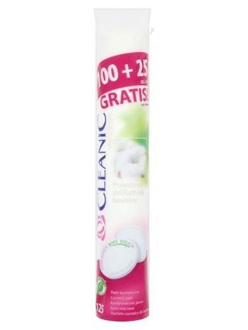 Cleanic Płatki kosmetyczne Pure Effect Okrągłe 100szt. + 25 szt.