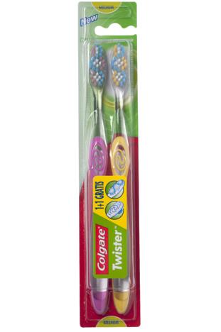 Colgate Szczoteczka do zębów DUO Twister Średnia 1 op.-2 szt.