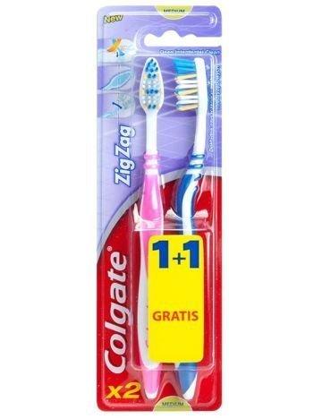 Colgate Szczoteczka do zębów Zig Zag Plus średnia 1+1 Gratis