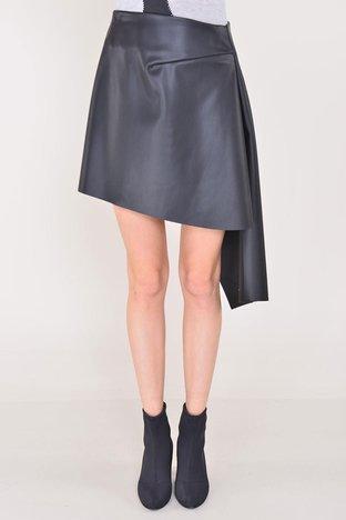 Czarna asymetryczna spódnica BSL