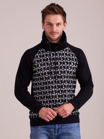 Czarna bawełniana bluza męska
