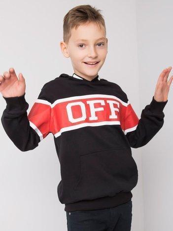 Czarna bluza dla chłopca z printem