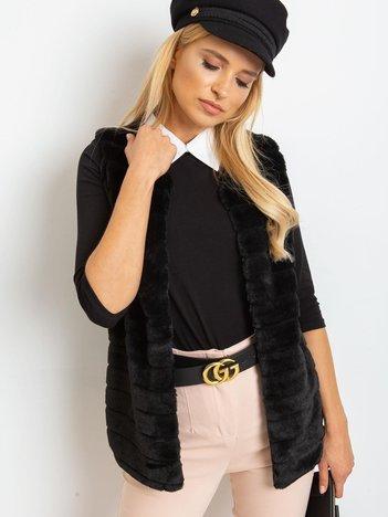 Czarna bluzka Collar