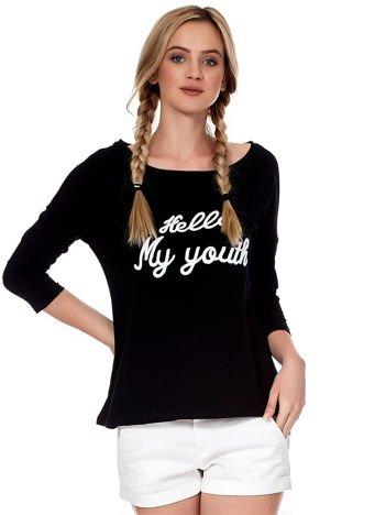 Czarna bluzka HELLO MY YOUTH