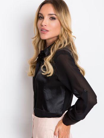 Czarna bluzka Velvet