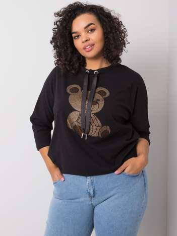 Czarna bluzka bawełniana Aurea