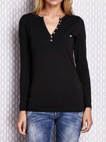 Czarna bluzka cut out